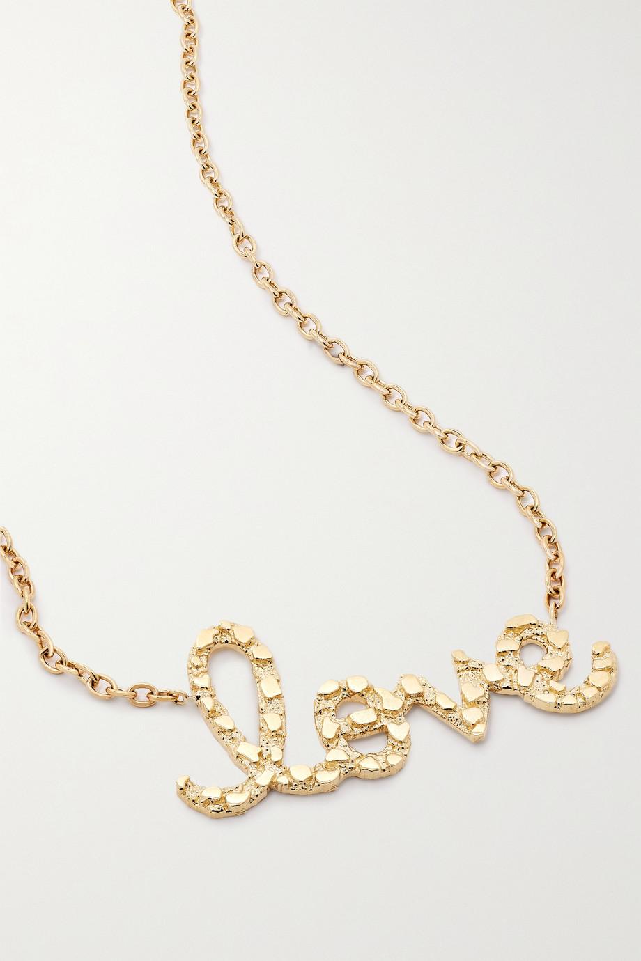 Sydney Evan Collier en or 14 carats (585/1000) Love Script Extra Large