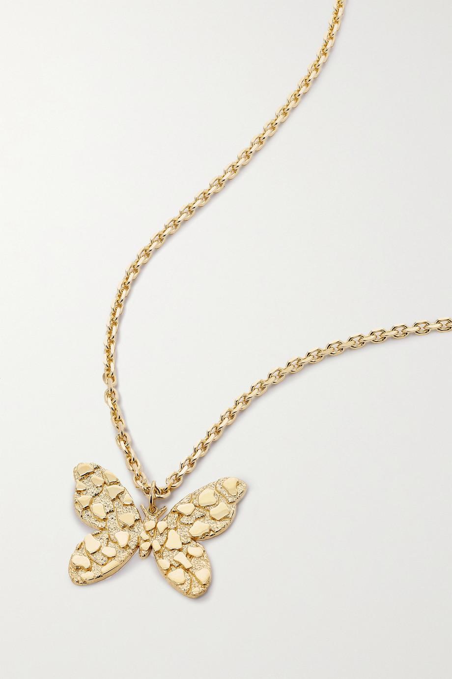 Sydney Evan Large Butterfly Kette aus 14 Karat Gold