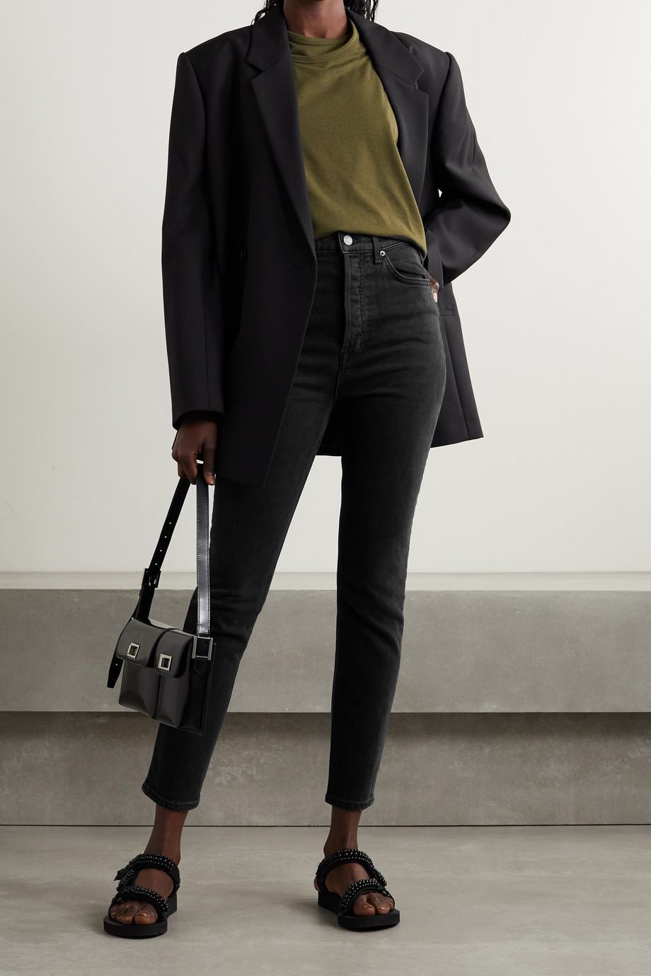 GRLFRND Piper high-rise slim-leg jeans