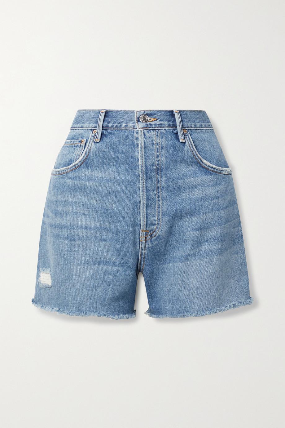 GRLFRND Jules frayed denim shorts