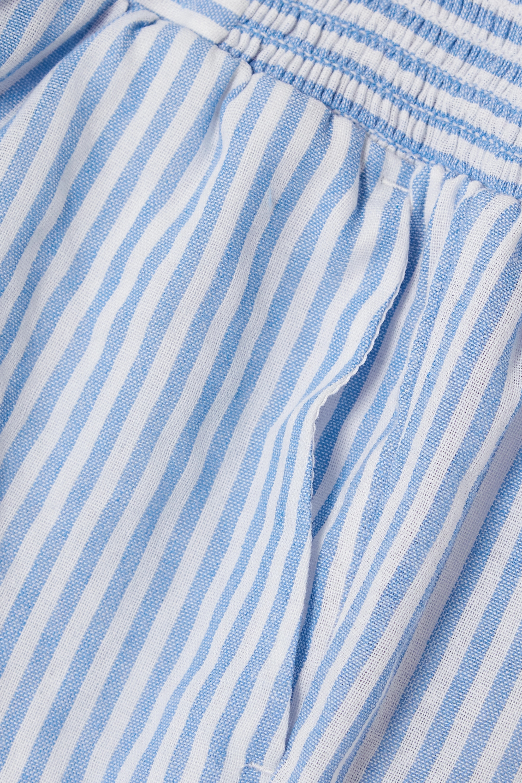 Reformation Edward striped woven shorts