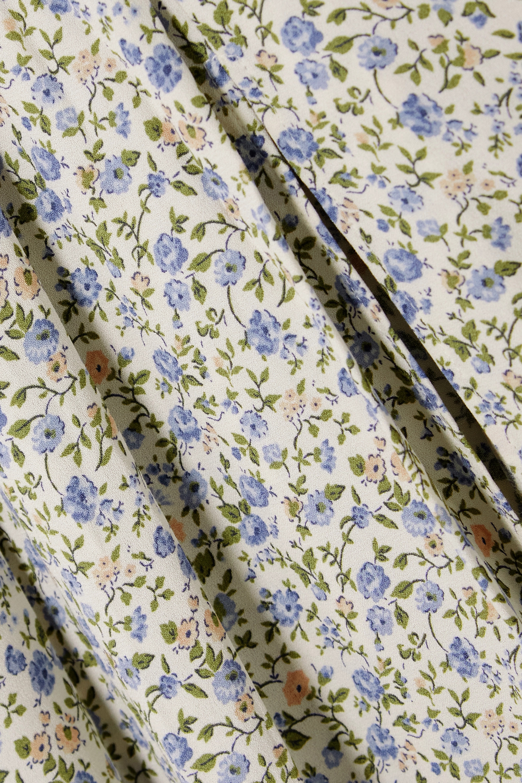 Reformation + NET SUSTAIN Maisie pleated floral-print crepe midi skirt