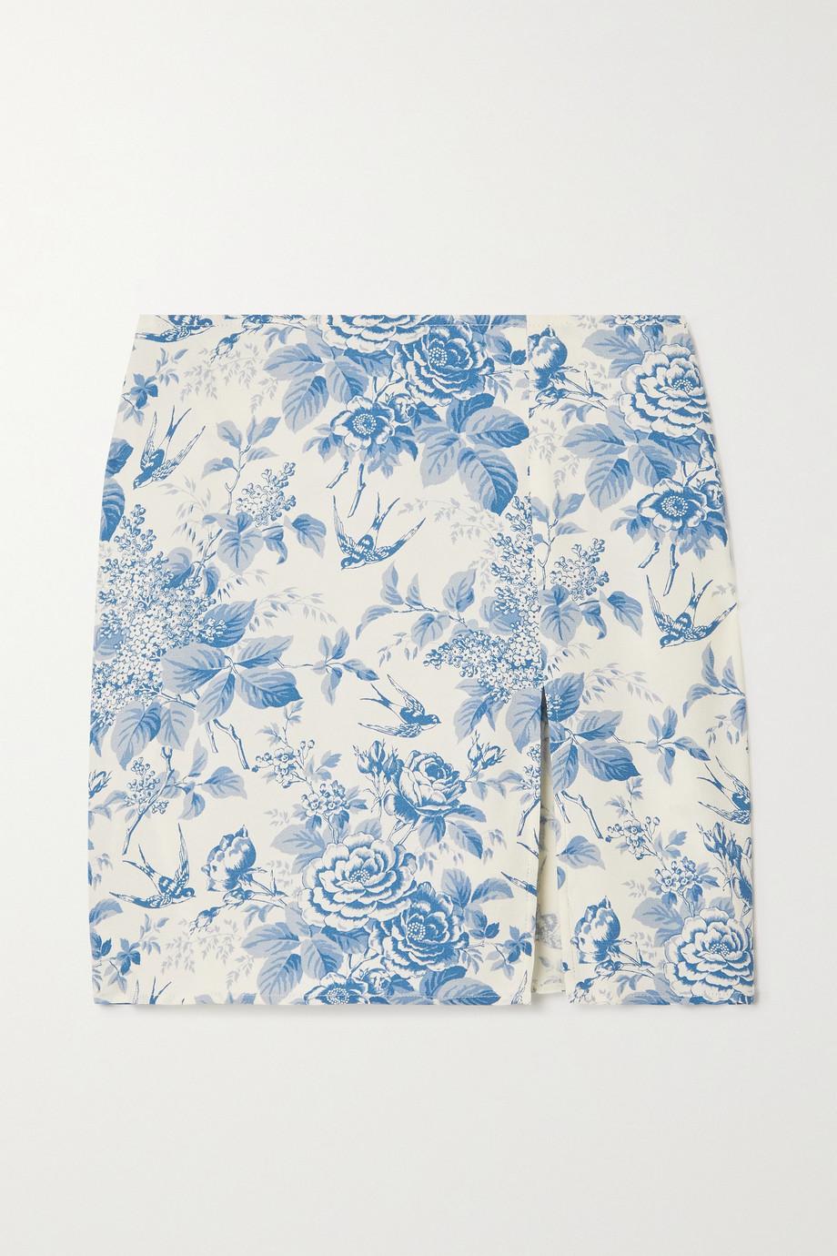 Reformation Mini-jupe en georgette à imprimé fleuri Margot - NET SUSTAIN
