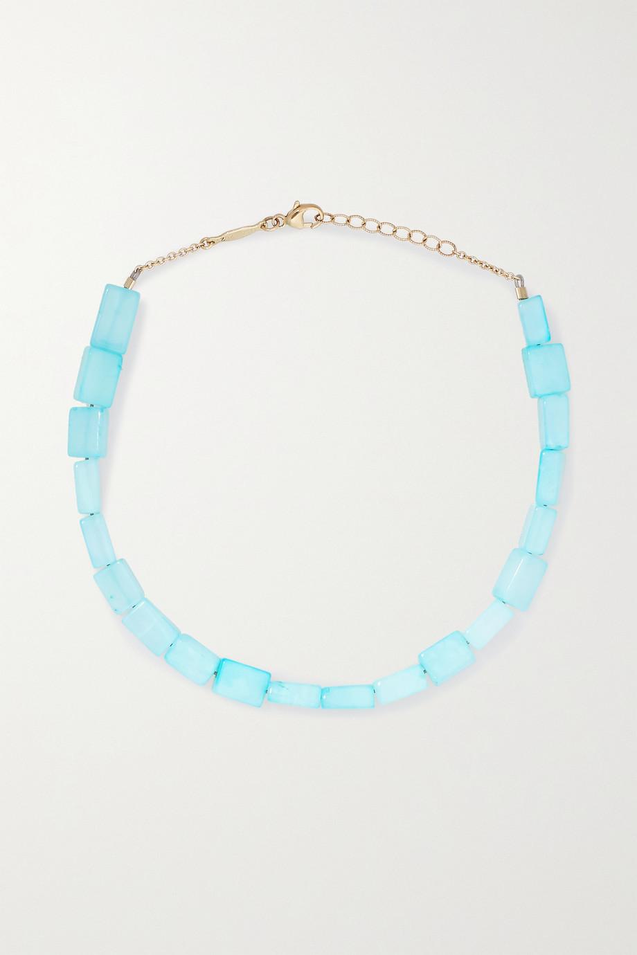 Jacquie Aiche 14-karat gold opal anklet