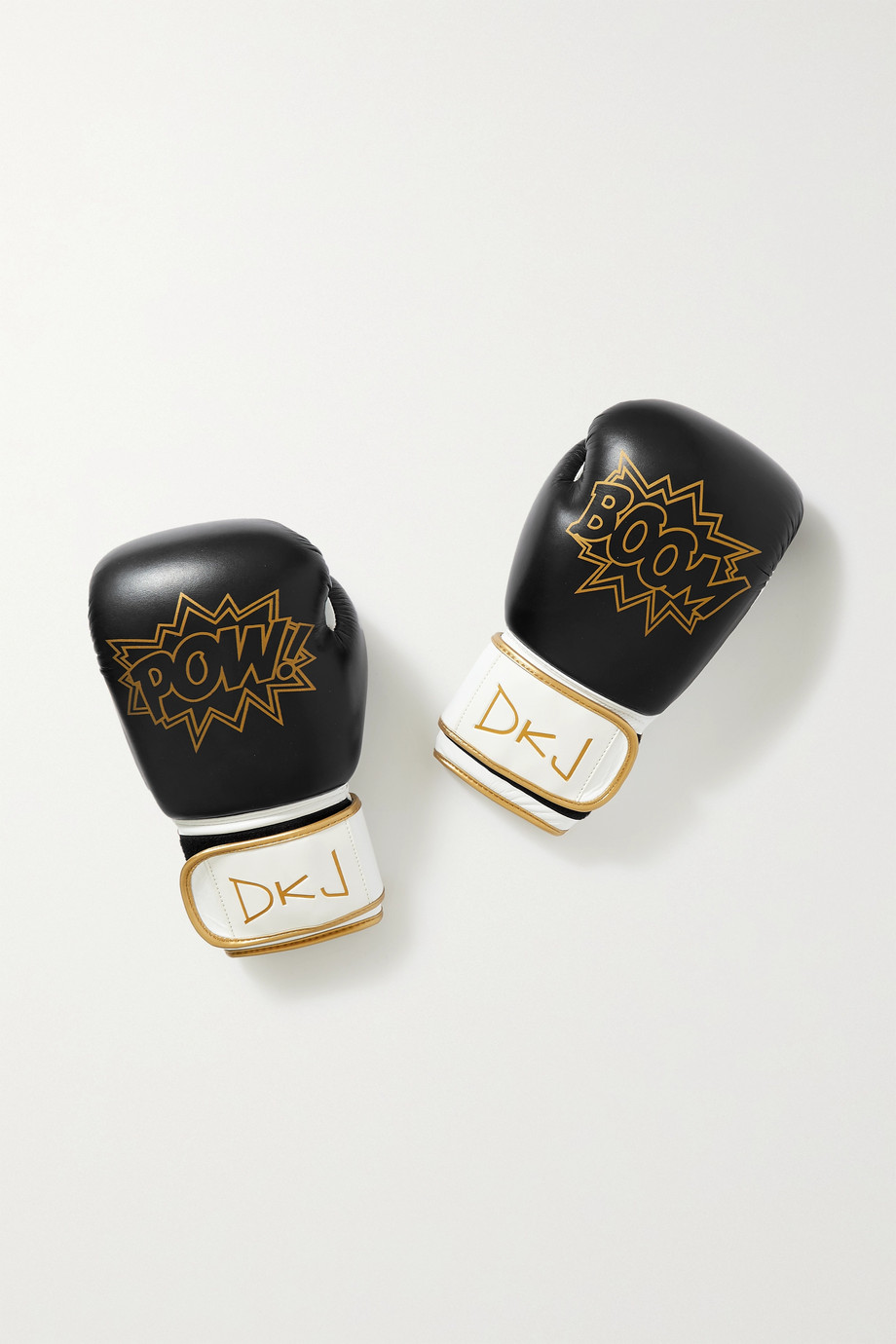 Diane Kordas Boxhandschuhe aus Leder mit Print