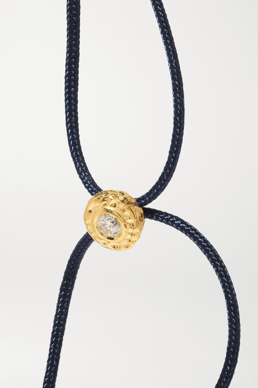 Octavia Elizabeth Bracelet en or 18 carats (750/1000) recyclé, corde et diamant Parachute Nesting Gem - NET SUSTAIN
