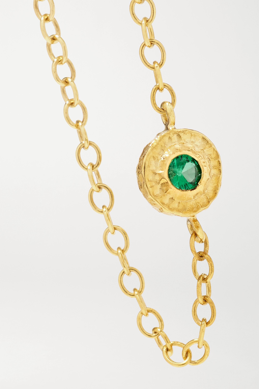 Octavia Elizabeth + NET SUSTAIN Nesting Gem 18-karat gold emerald ring