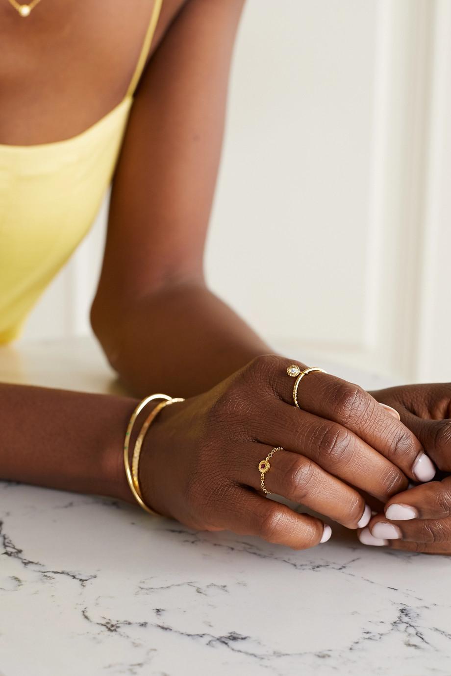 Octavia Elizabeth + NET SUSTAIN Nesting Gem 18-karat recycled gold ruby ring