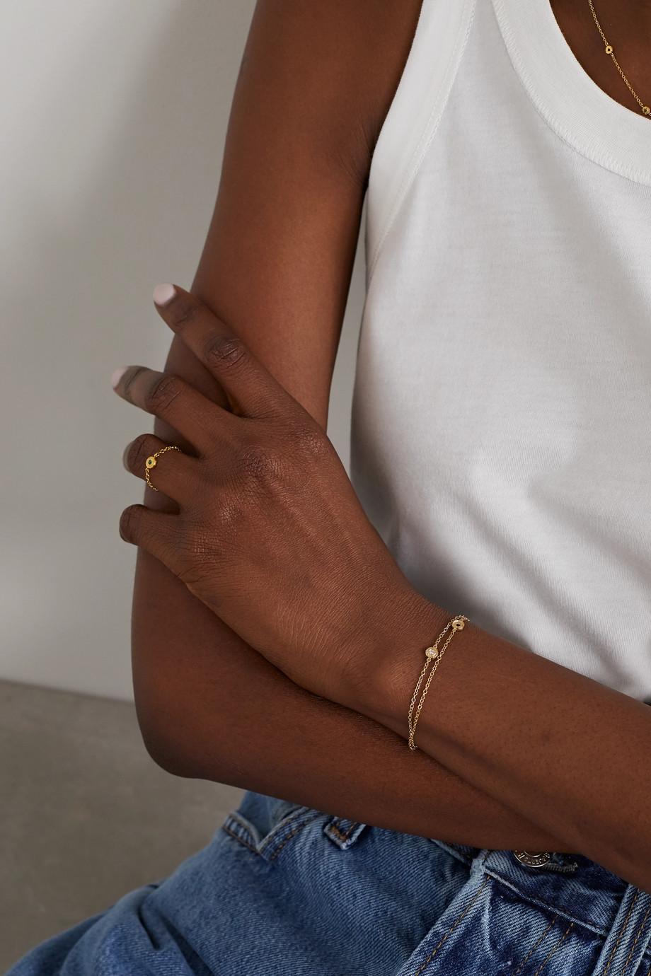 Octavia Elizabeth + NET SUSTAIN Nesting Gem Armband aus recyceltem 18 Karat Gold mit Diamant
