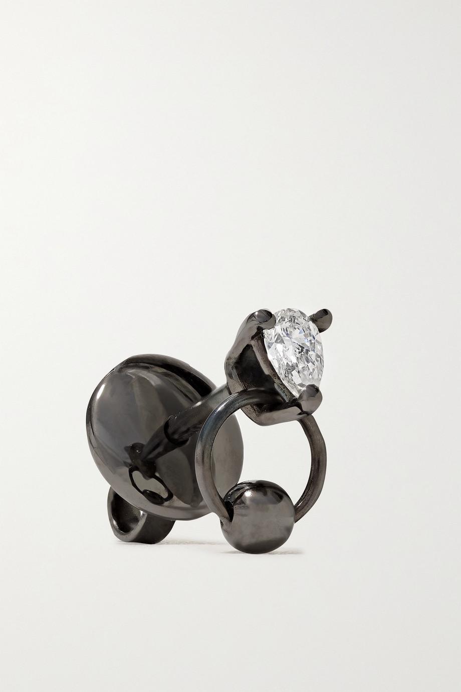 Delfina Delettrez 18-karat blackened gold diamond single earring