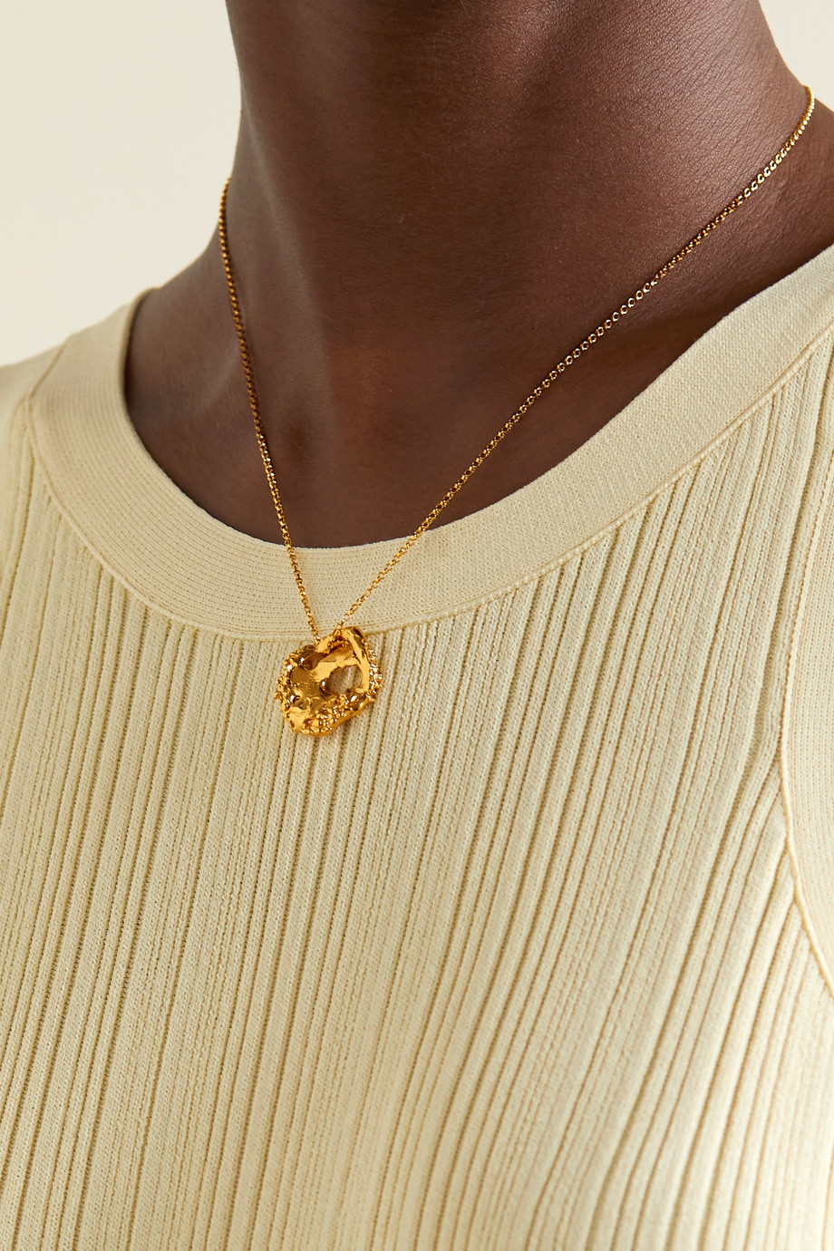 Alighieri The Craters We Know gold-plated necklace