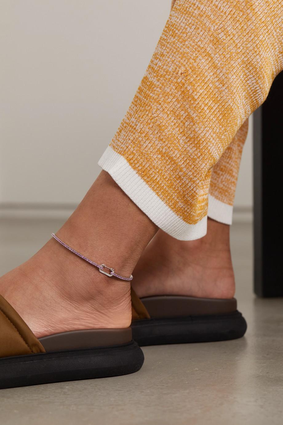 EÉRA 18-karat white gold sapphire anklet