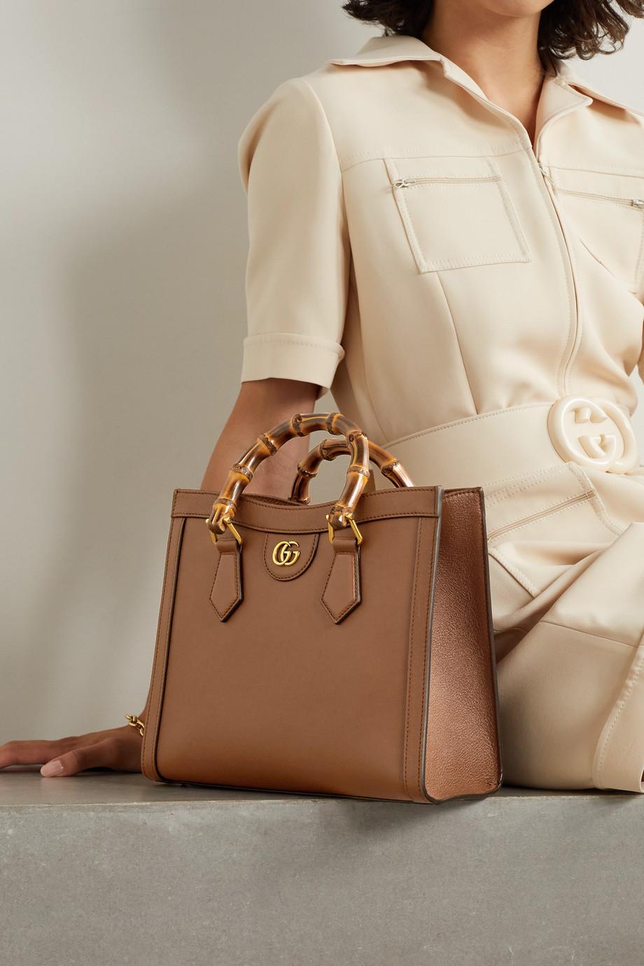 Gucci Sac à main en cuir texturé Diana Small