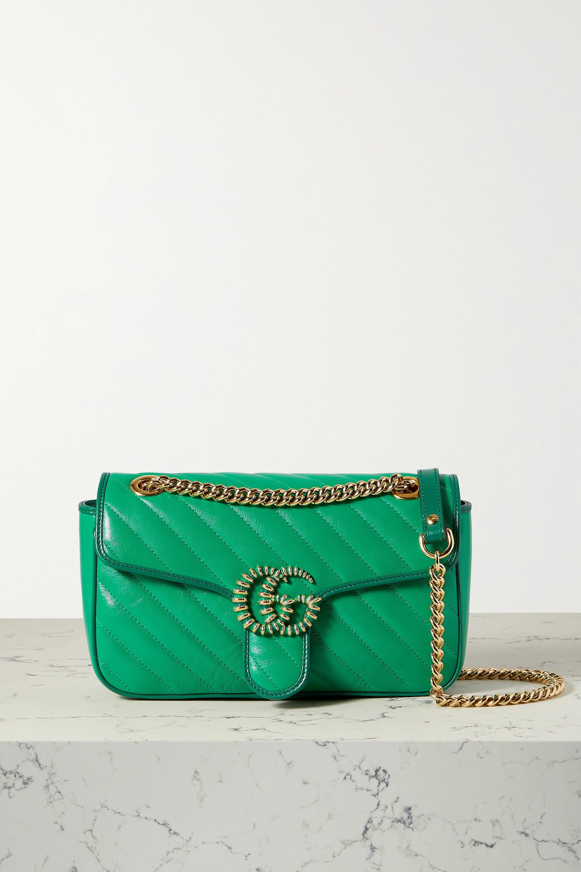 Gucci GG Marmont 2.0 small embellished quilted leather shoulder bag