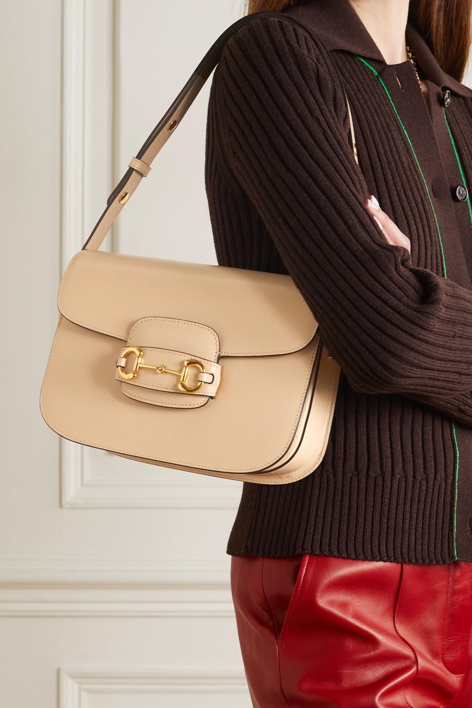 Gucci 1955 Horsebit medium textured-leather shoulder bag