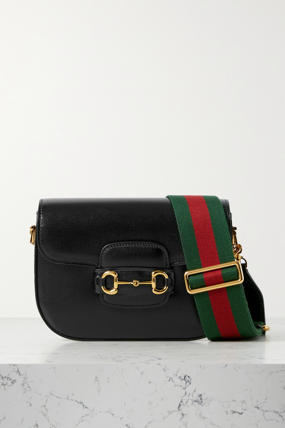 Gucci Horsebit 1955 Schultertasche aus strukturiertem Leder