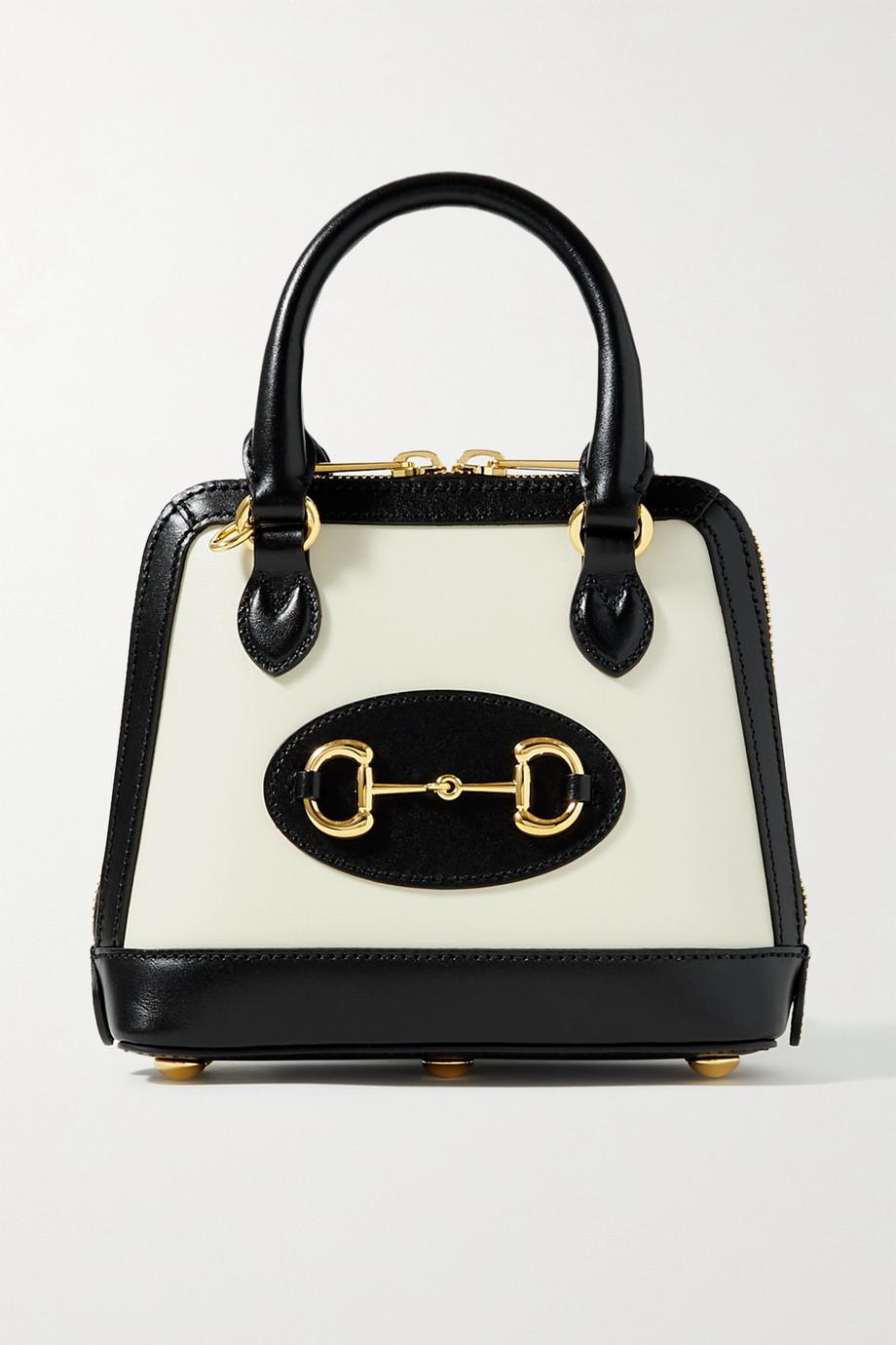 Gucci Sac à main en cuir bicolore Horsebit 1955 Mini