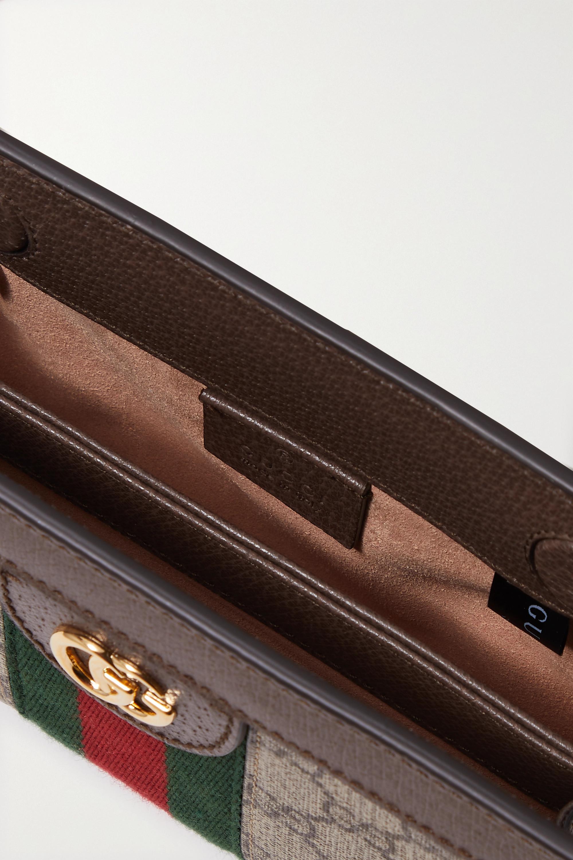 Gucci Sac porté épale en toile enduite imprimée et en cuir texturé Ophidia Mini