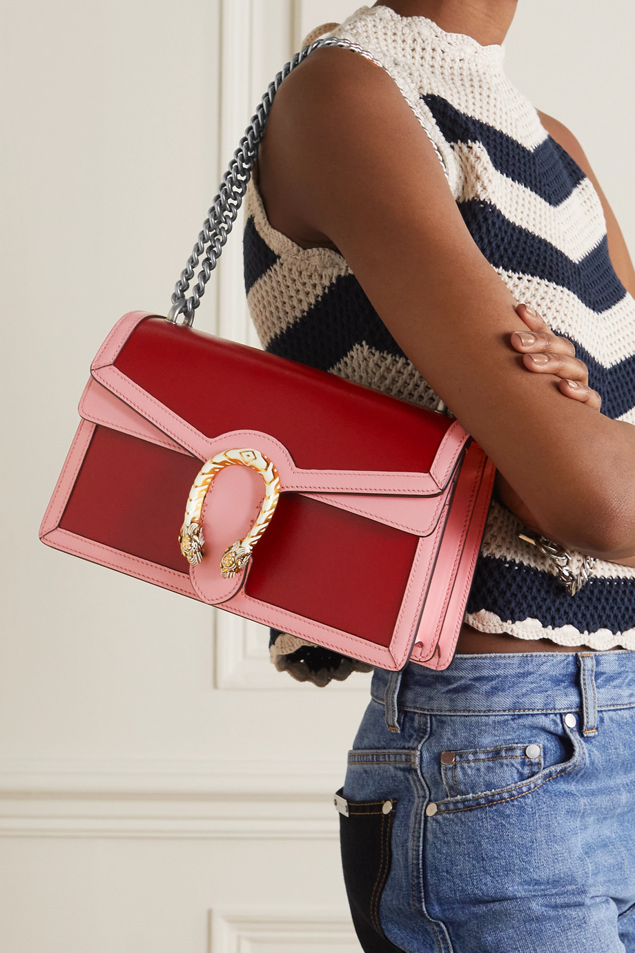 Gucci Dionysus small two-tone leather shoulder bag