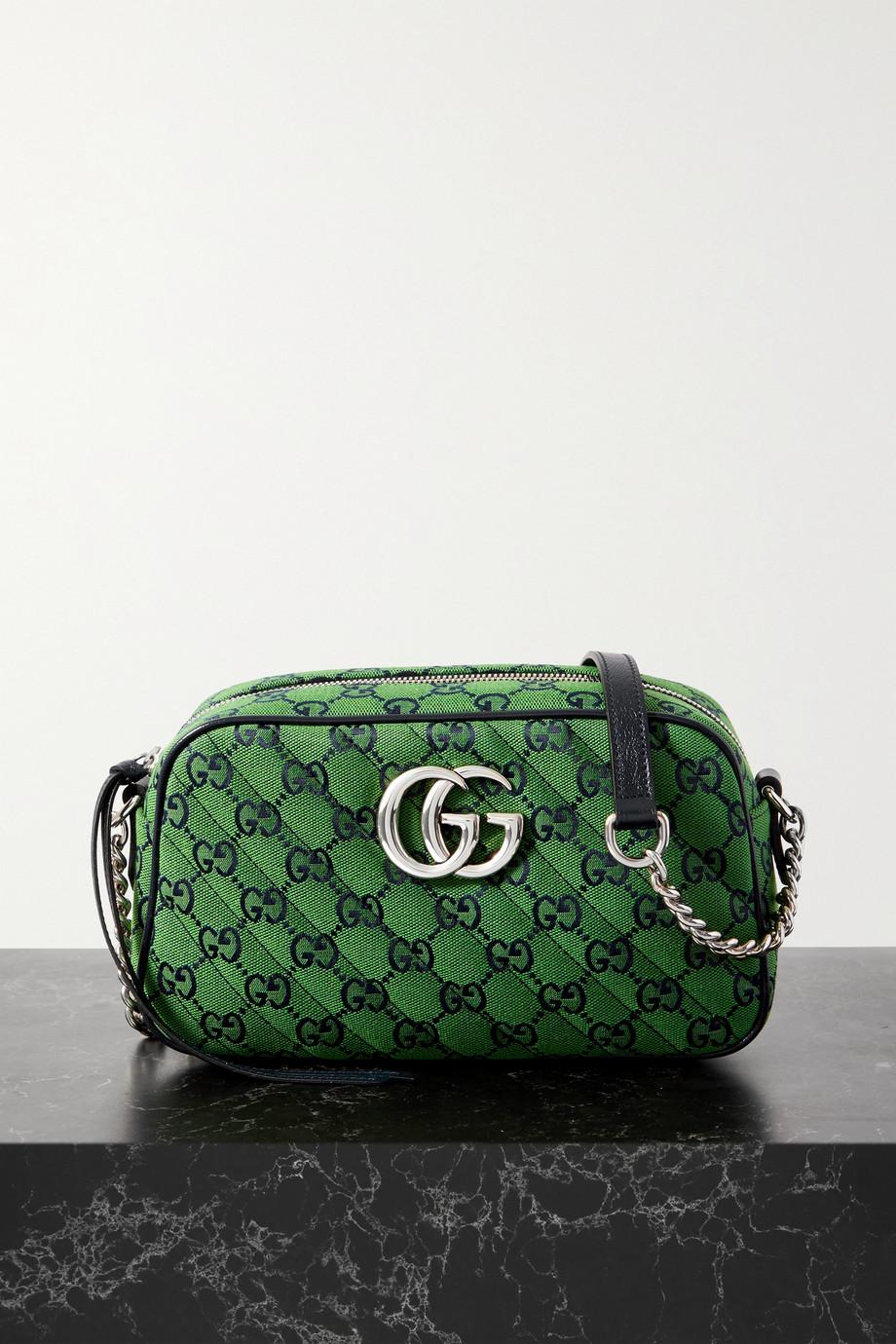 Gucci Sac porté épaule en jacquard matelassé multicolore GG Marmont Small