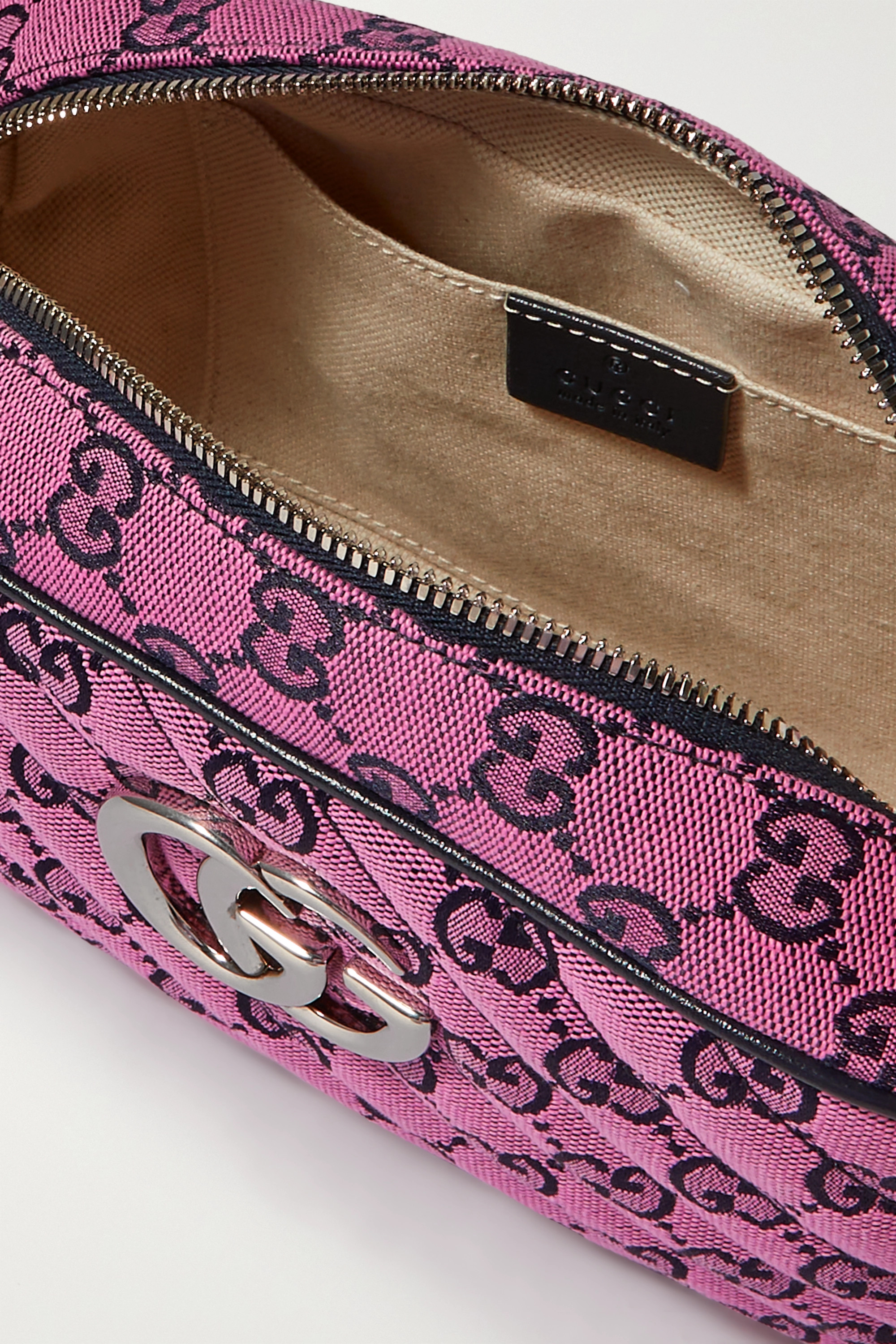 Gucci GG Marmont Multicolour small quilted jacquard shoulder bag