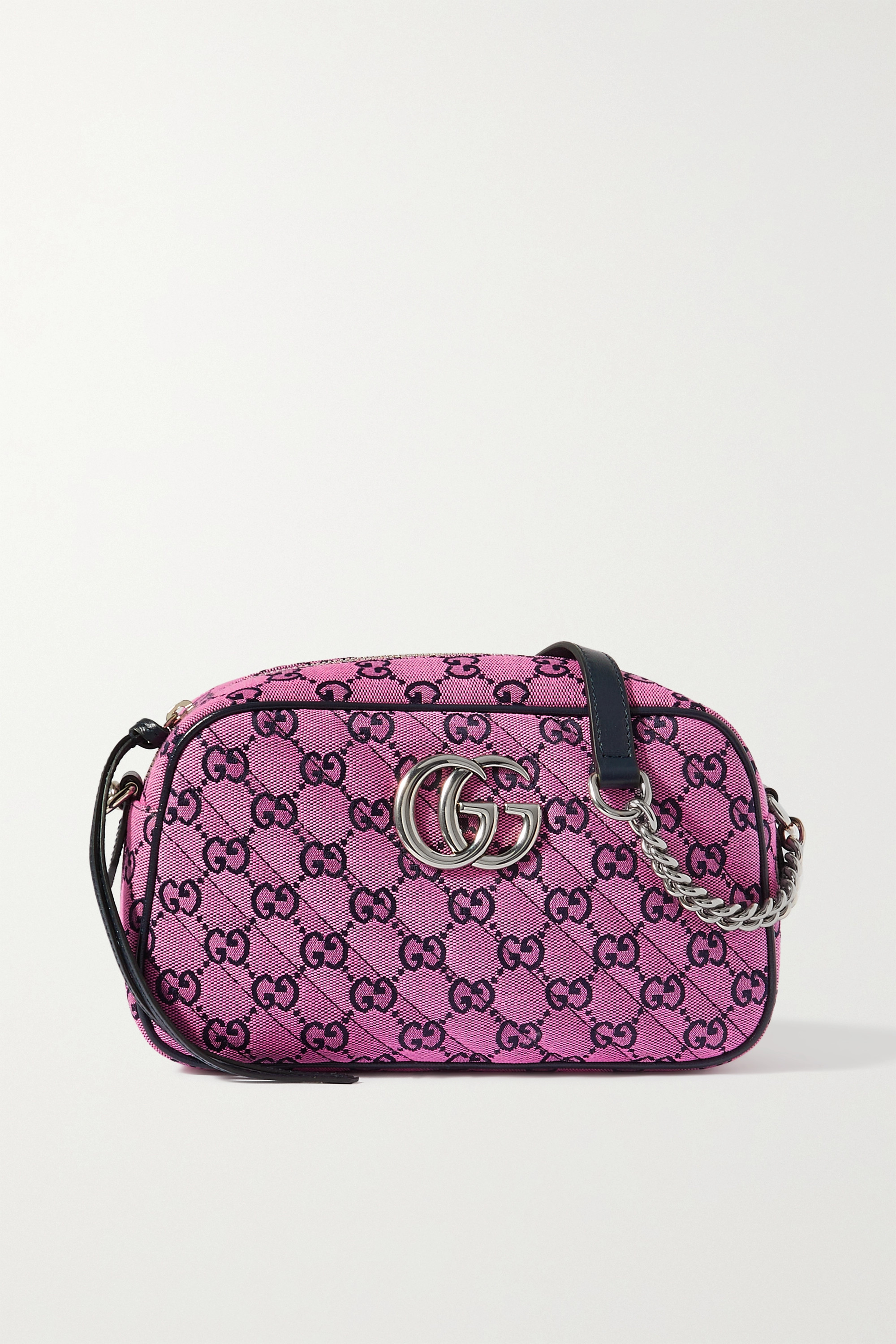 Gucci - GG Marmont Multicolour small quilted jacquard shoulder bag