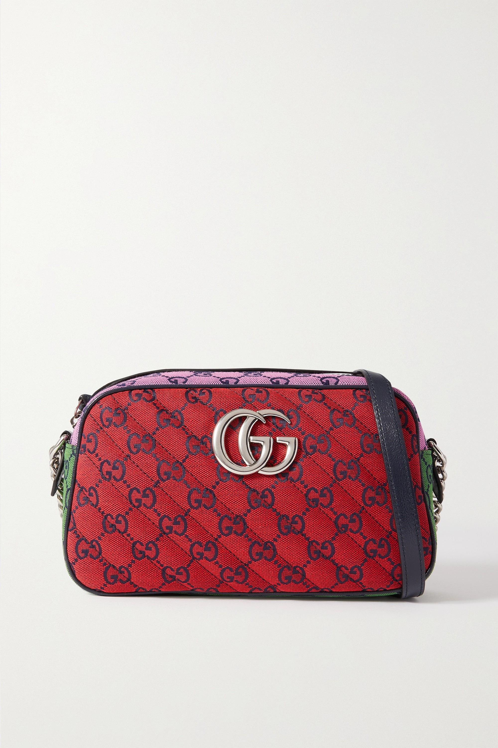 Gucci GG Marmont Multicolour Camera 2.0 small quilted logo-jacquard shoulder bag