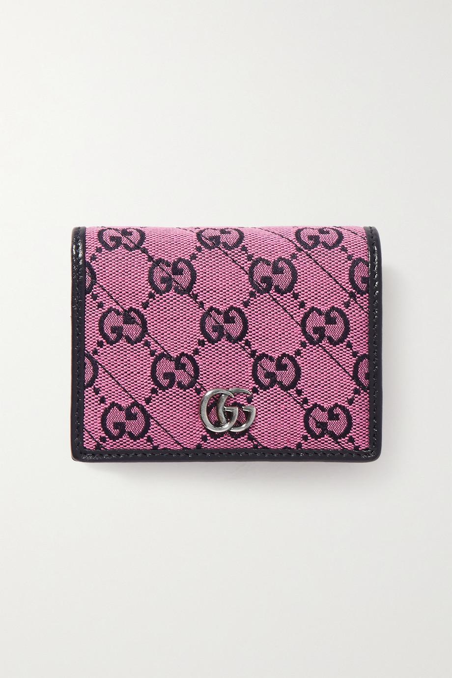 Gucci Portefeuille en jacquard et cuir GG Marmont Multicolour