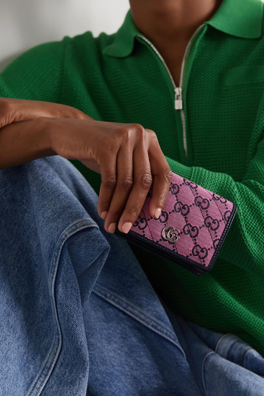Gucci GG Marmont Multicolour Portemonnaie aus Jacquard und Leder
