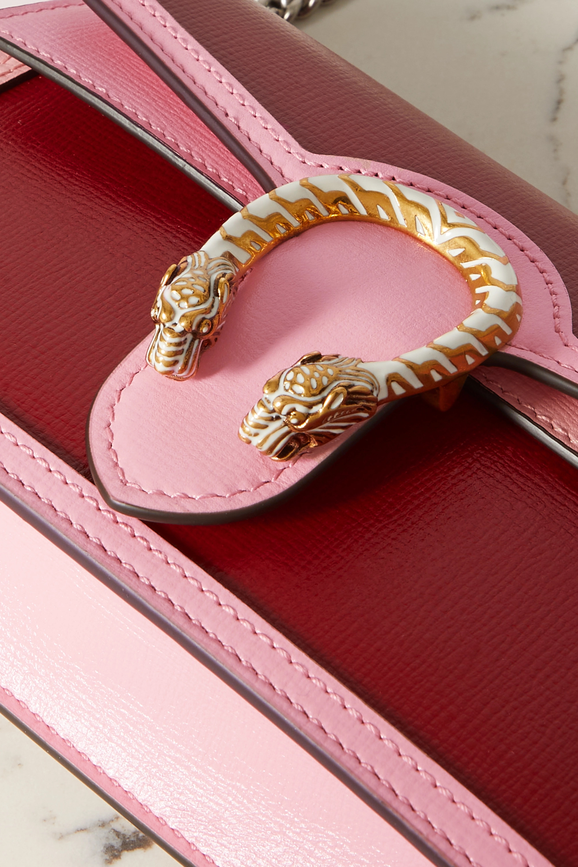 Gucci Sac porté épaule en cuir bicolore Dionysus Super Mini