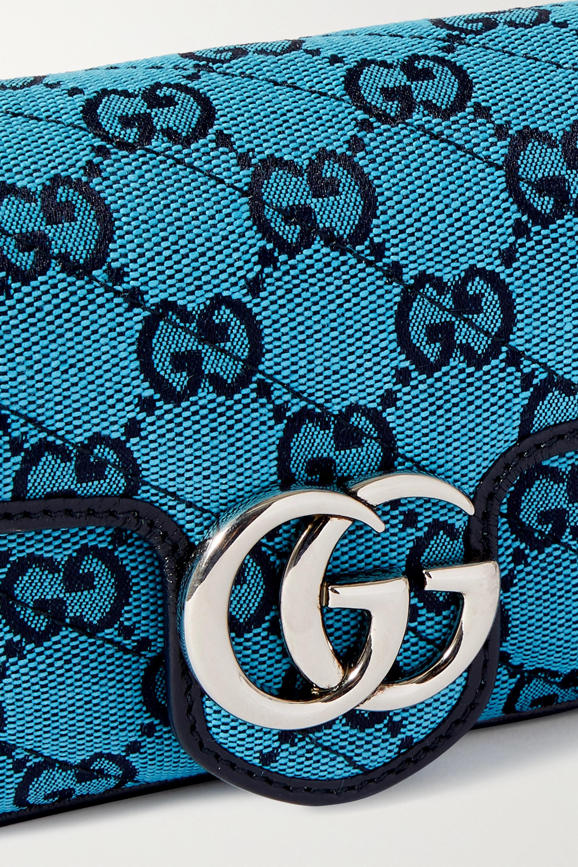 Gucci GG Marmont Multicolour super mini quilted logo-jacquard shoulder bag