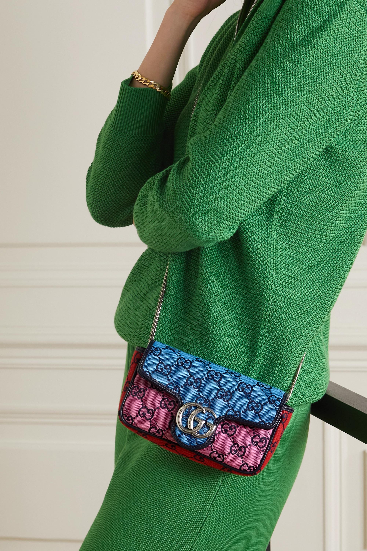 Gucci Sac porté épaule en jacquard matelassé à logo GG Marmont Multicolour Super Mini