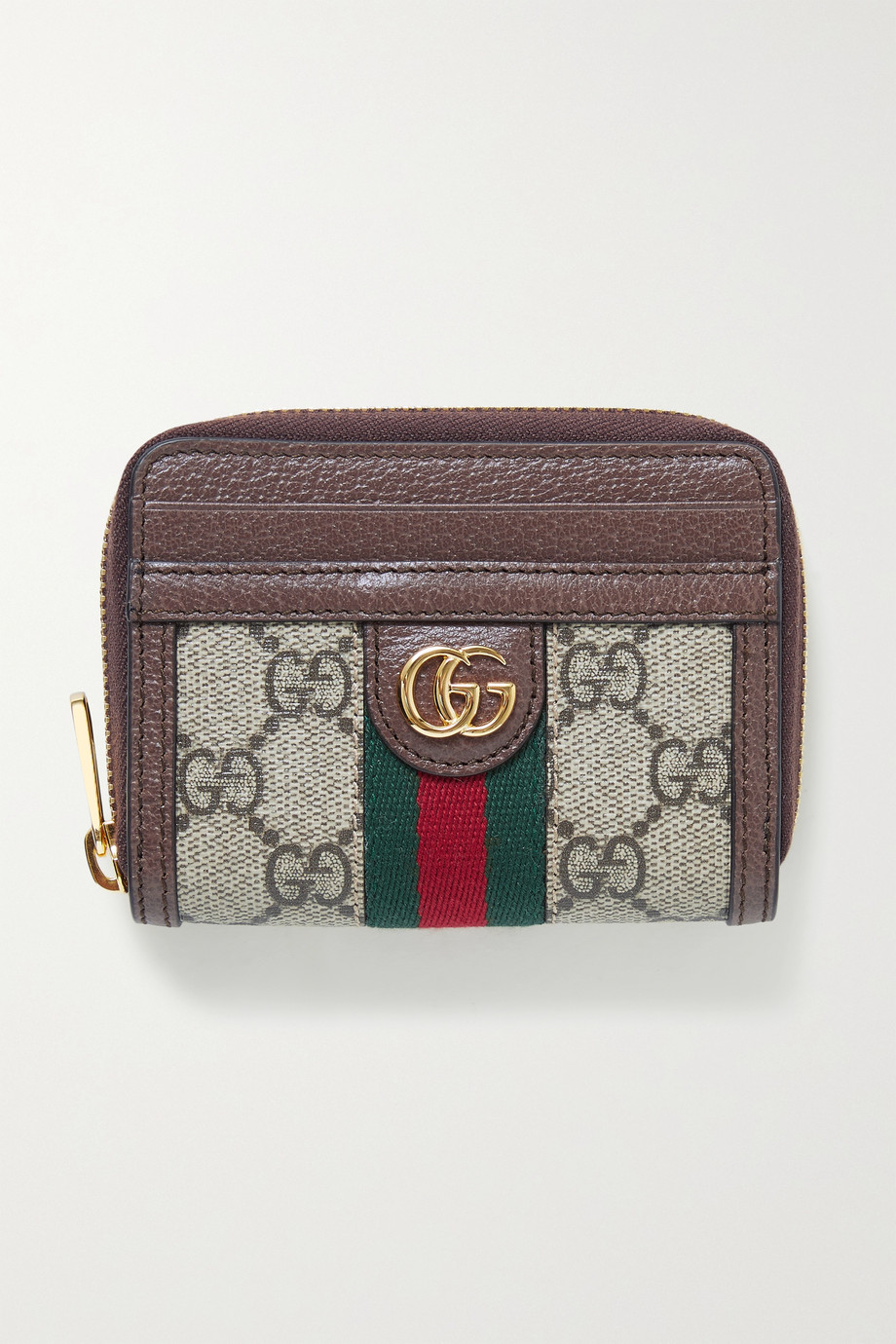 Gucci Ophidia textured leather-trimmed printed coated-canvas wallet