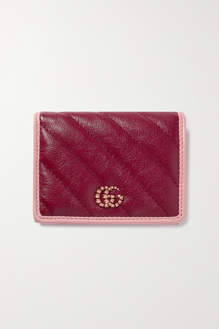Gucci GG Marmont two-tone quilted textured-leather wallet