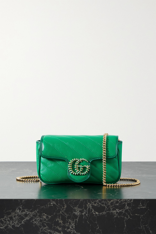 Gucci Sac porté épaule en cuir matelassé GG Marmont
