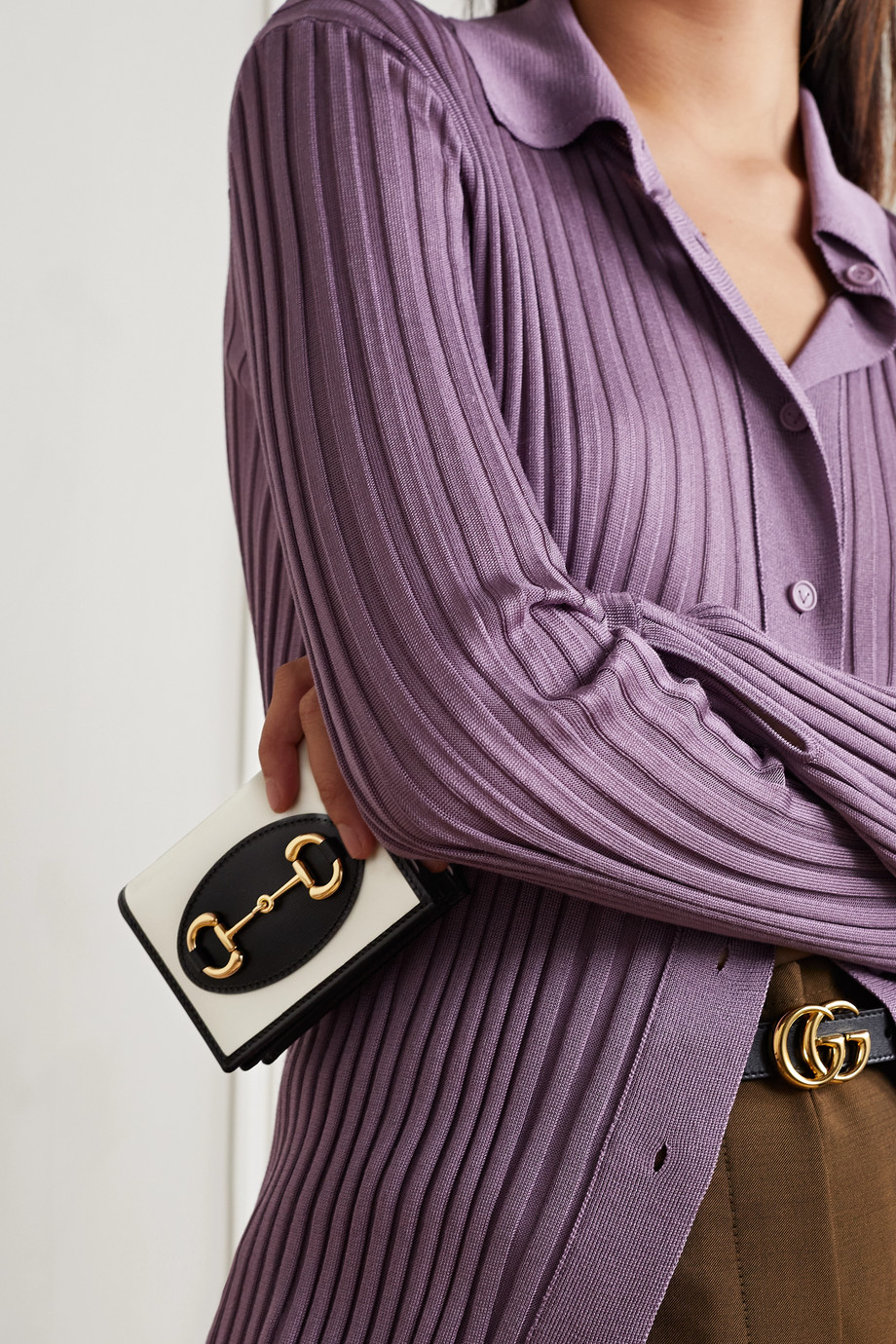 Gucci Portefeuille en cuir bicolore 1955 Horsebit