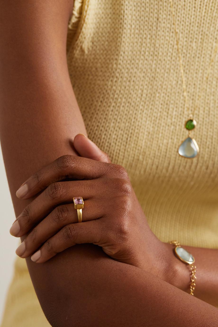Pippa Small 18-karat gold kunzite ring