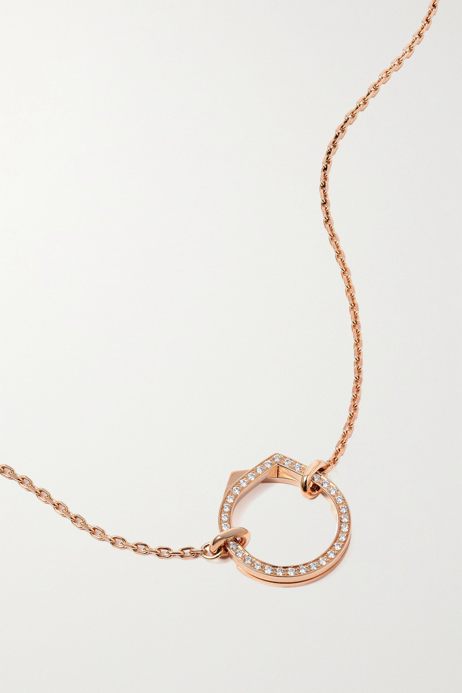 Repossi Collier en or rose 18 carats (750/1000) et diamants