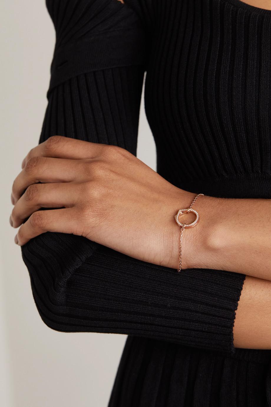 Repossi Bracelet en or rose 18carats (750/1000) et diamants