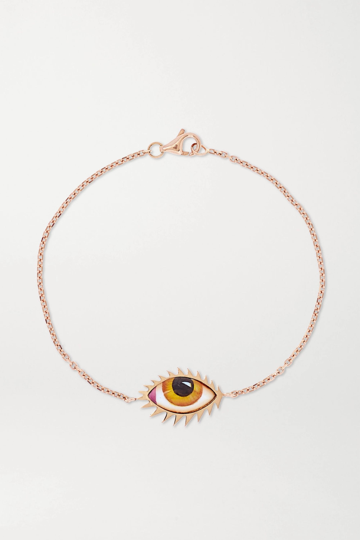Lito Bracelet en or rose 14 carats (585/1000) et émail Tu Es Partout