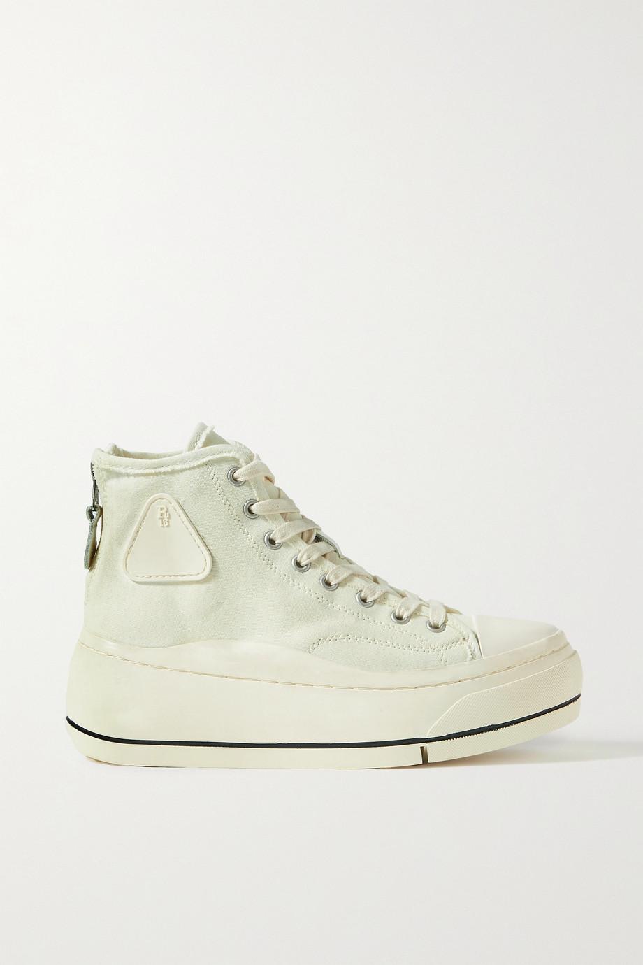 R13 Canvas high-top platform sneakers