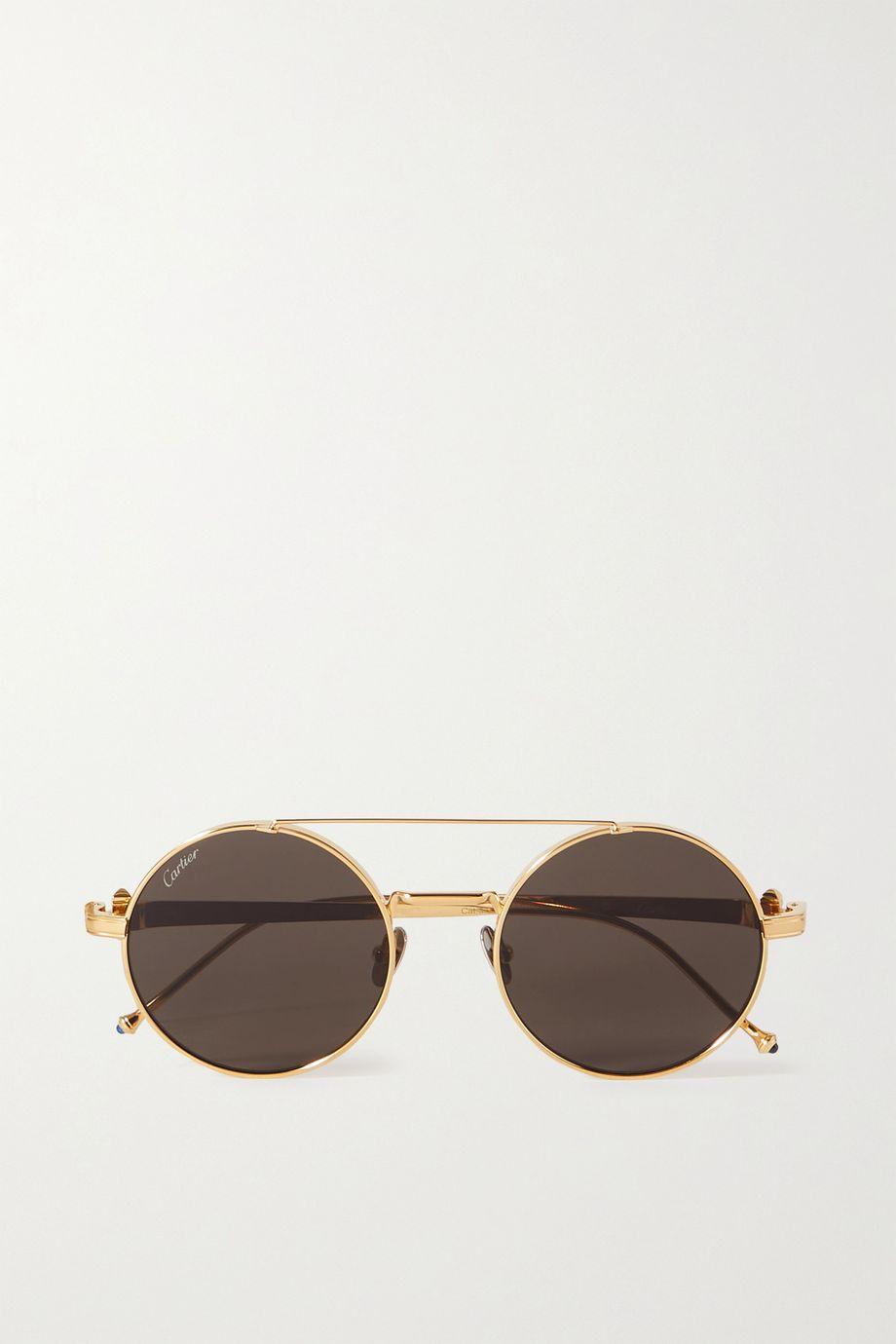 Cartier Eyewear Lunettes de soleil rondes dorées Pasha de Cartier
