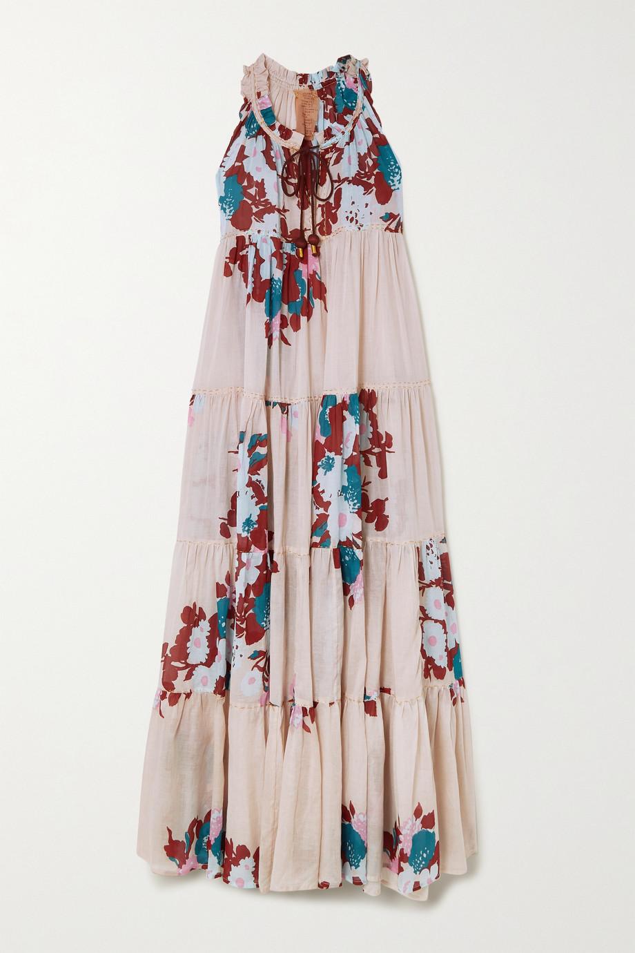 Yvonne S Robe longue en voile de coton à imprimé fleuri Hippy