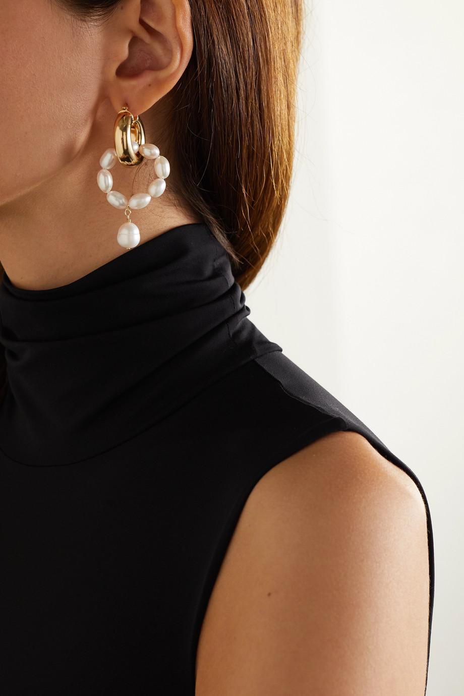 éliou Boucles d'oreilles en plaqué or et perles Ios & Rho