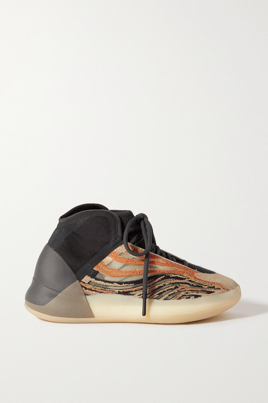 adidas Originals Baskets en résille et en néoprène à finitions en daim Yeezy Quantum