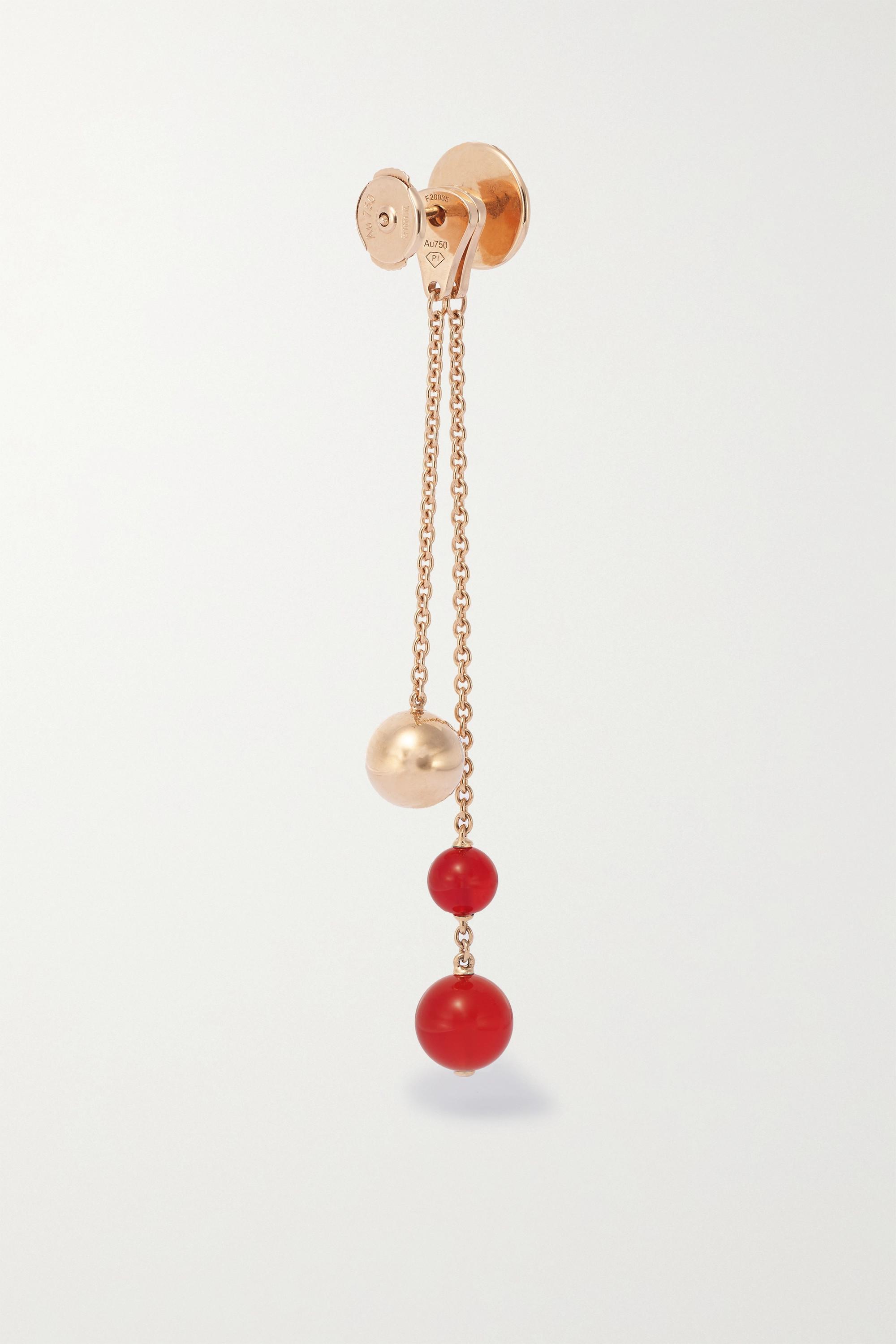 Piaget Boucles d'oreilles en or rose 18 carats (750/1000), cornalines et diamants Possession