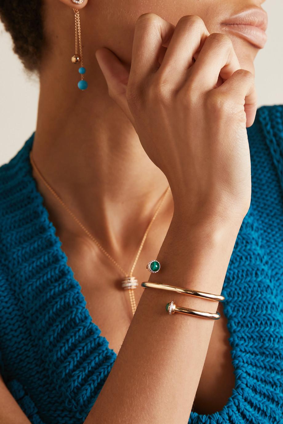 Piaget Possession 18-karat rose gold, malachite and diamond bangle