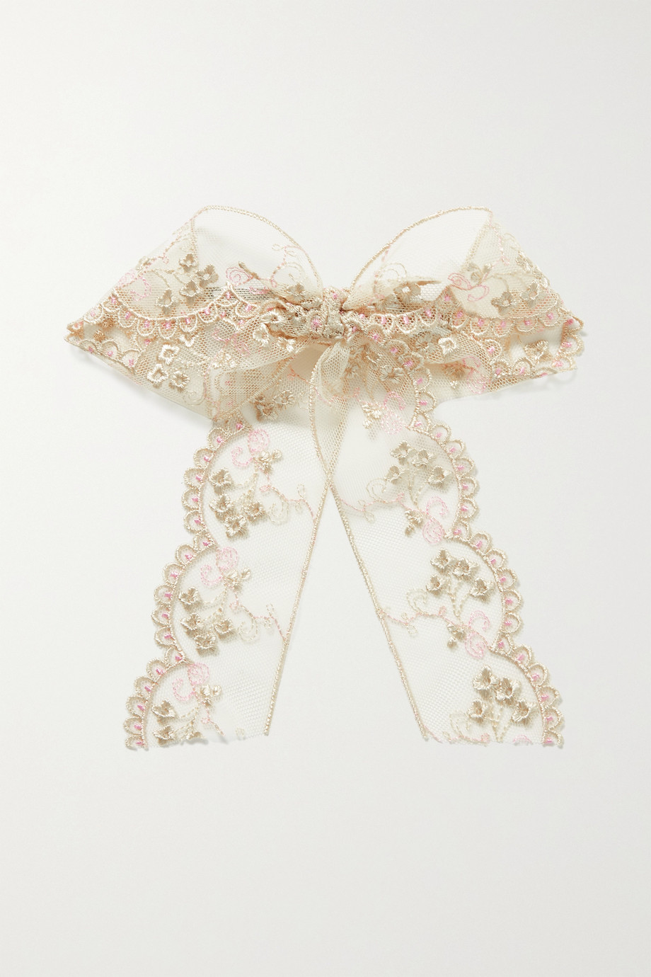 LELET NY Lacey embroidered tulle hair clip
