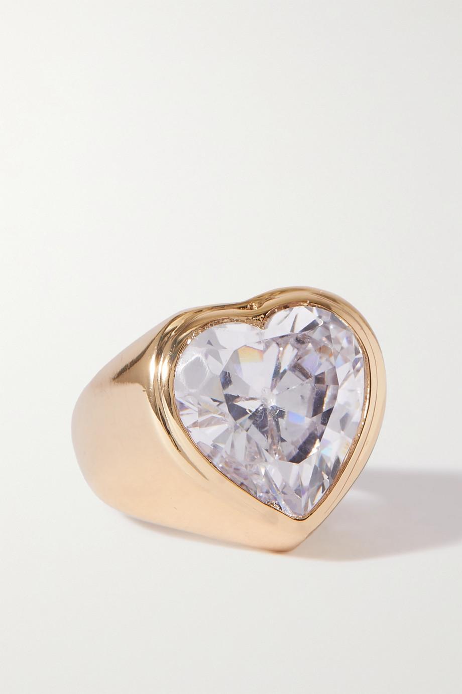 Timeless Pearly Bague en plaqué or et cristal