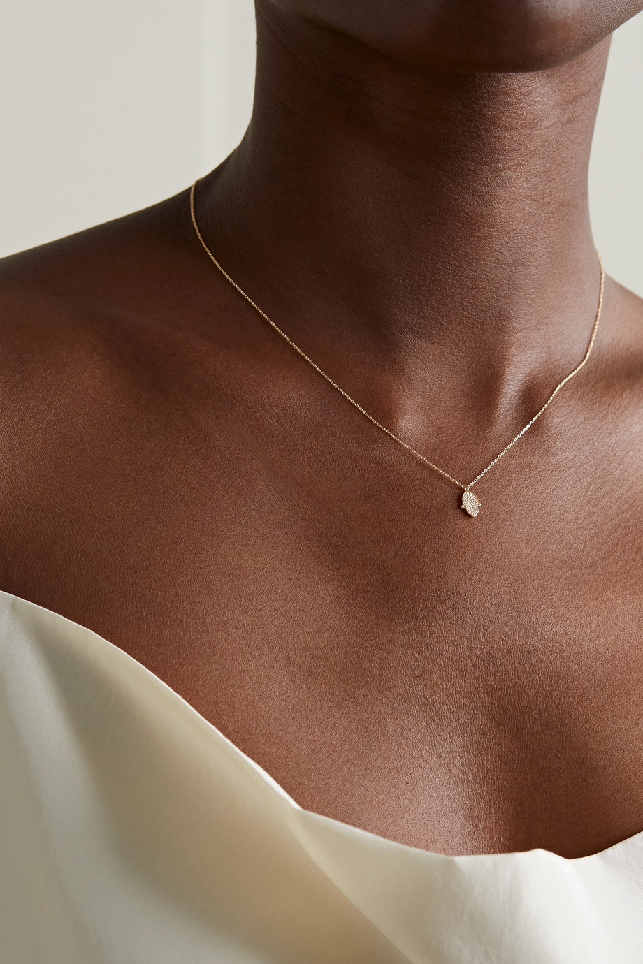 STONE AND STRAND Gold diamond necklace